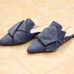 J.Crew Denim Pointed Toe Slides/Slipper with Box 6